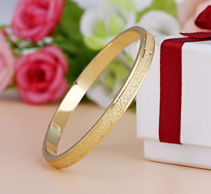 Female Frosted Love Bangle Hot Luxury Dust Cuff Bracelets&Bangles Brand Buckle Bracelet For Women Gift Jewelry