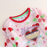 Floral Girl Shirt Nova new Girls t-shirts Spring/Autumn Long Sleeve T Shirt for Children Girl