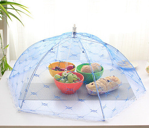 Food Covers Umbrella Style Anti Fly Mosquito Kitchen diameter 65cm cooking Tools meal cover Hexagon gauze table food cover