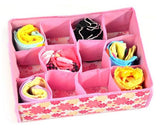 NEW Hot Sale Folding 12 Grid Storage Box For Bra,Underwear,Socks 31*23*11CM Non-Woven Fabric