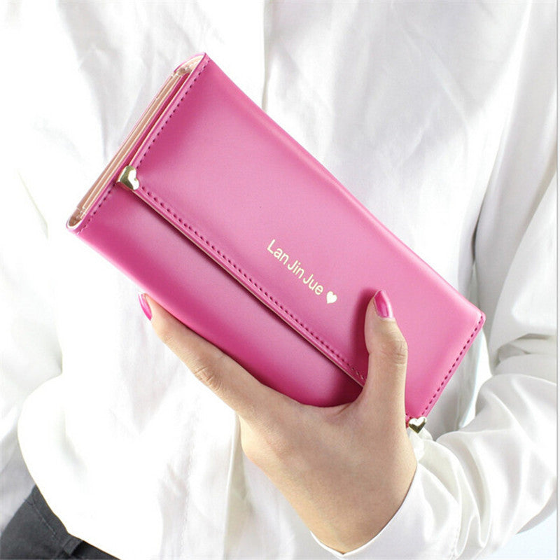 HOT sale Fashion Lady Women popular Purse N682 Long Wallet Bags PU Handbags Card Holder Birthday part Gift