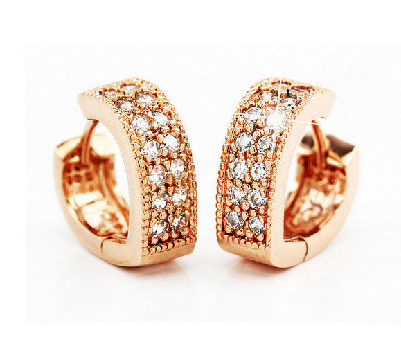 CZ Diamond Brand new Fashion earrings for Women hot hoop Earrings 18k gold silver plated Earrings jewelry