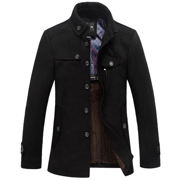 Casual Long Section Of The Stand Up Collar Men S