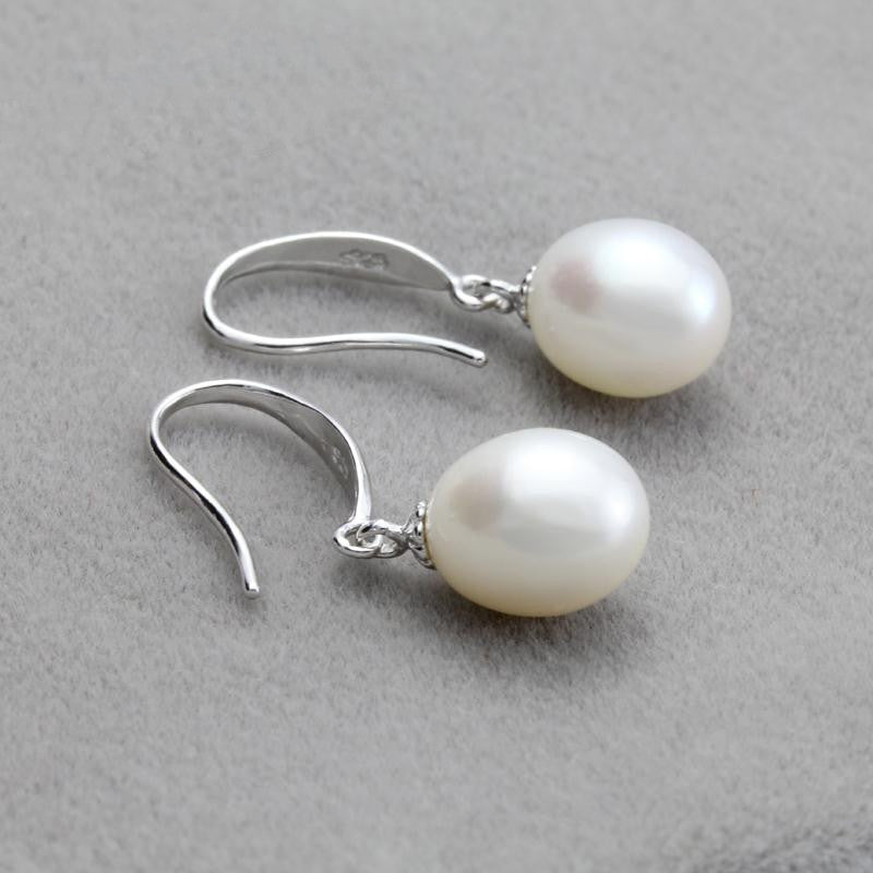 Freshwater Natural Pearl earrings for women,bridal real pearl earrings 925 sterling silver earring jewelry lady nice gift