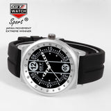 GT WATCH Driver Racing Gulf Collection Stainless Steel Case Relojes Men's Military Race Silicone Strap Watch