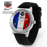 GT WATCH French Flag Montres GT Racing Sport Men's Military Wristwatch Unisex Fashion Women Casual Silicone Trend Watch