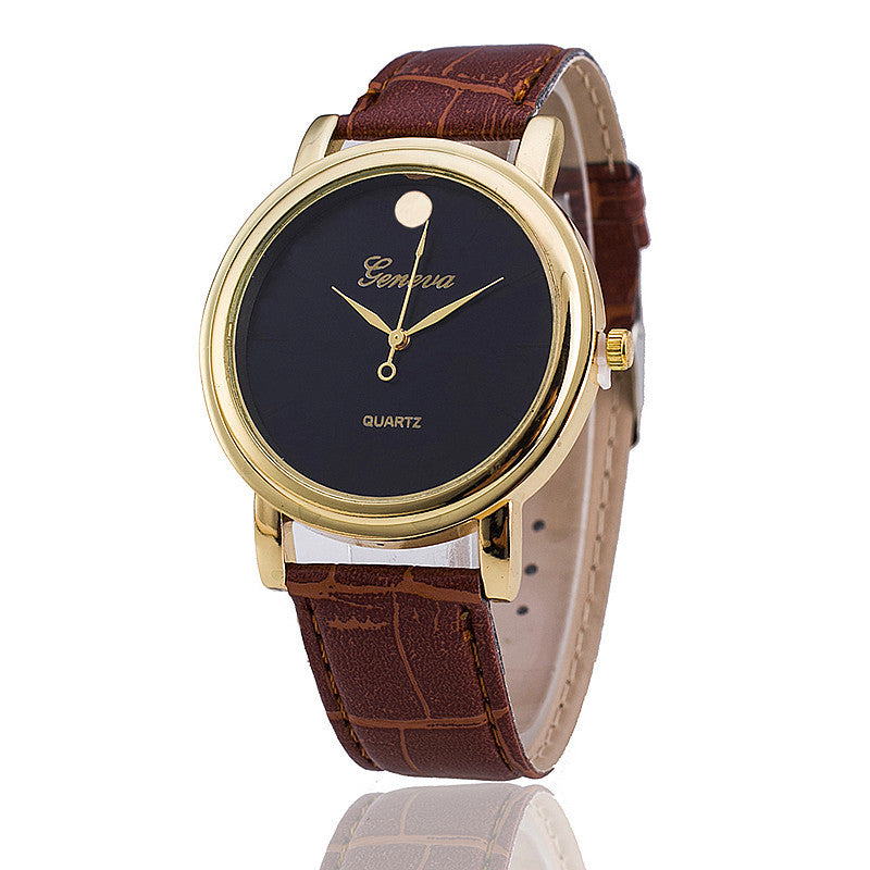 Geneva Watch Fashion Women Wristwatch Casual Luxury Leather Strap Quartz Watches