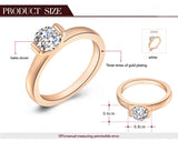 Gift Swiss CZ To Girlfriend Gifts RING ,top quality wedding rings,100% hand made fashion jewelry