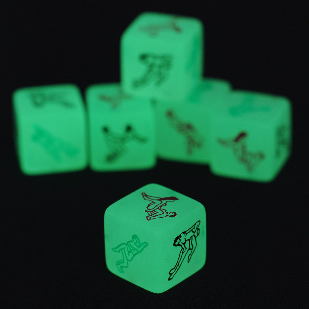 Glow In The Dark Erotic Dice, Night Lights Love Dice of Sex Fun Toys, Noctilucent Sex Dice of Adult game