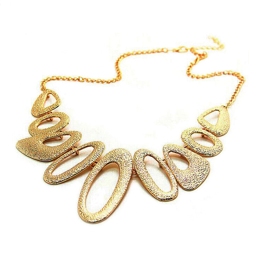 Gold long necklace women Multi circle collares necklaces & pendants bijoux choker necklace collier femme fashion vintage jewelry