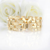 Gold Color Alloy Hollow Out Punk Bracelet And Bangles Fashion Jewelry Men And Women