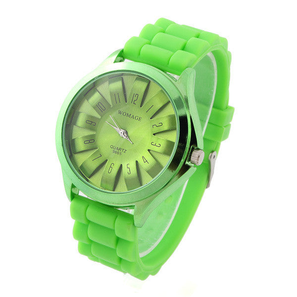Casual Watch Womage Unisex SunFlower Sports Watches Silicone Strap Ladies Quartz watches Analog Wristwatches