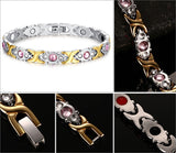 Gold Plated Fashion Bracelet Jewelry Energy Health Magnetic Bracelets for Man and Women Balance Bracelets & Bangles