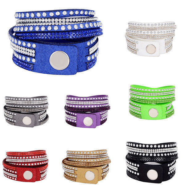 Handmade Unisex Multilayer Genuine Leather Bracelet Christmas Gift Bracelets Vintage Jewelry For Women Pulsera