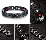 Healthy Magnetic Bracelets & Bangles Stainless Steel Jewelry For Men Women Men's Hand Chain Gold & Black