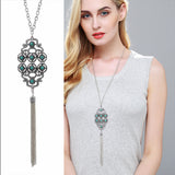 High Quality Fashion Jewelry Bohemia Ethnic Style Long Tassel Pendant Chain Necklace For Women
