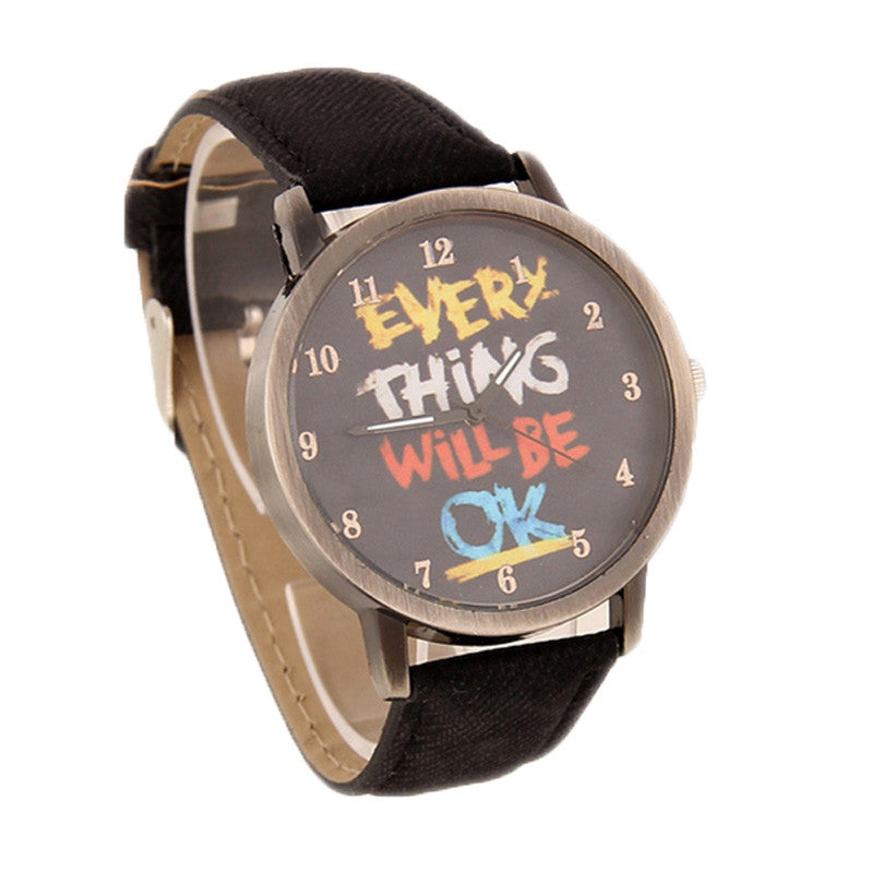High Quality Quartz watch Fabric Band Analog women Dress Watches Cartoon Electronic Casual men Wristwatch Vintage Style