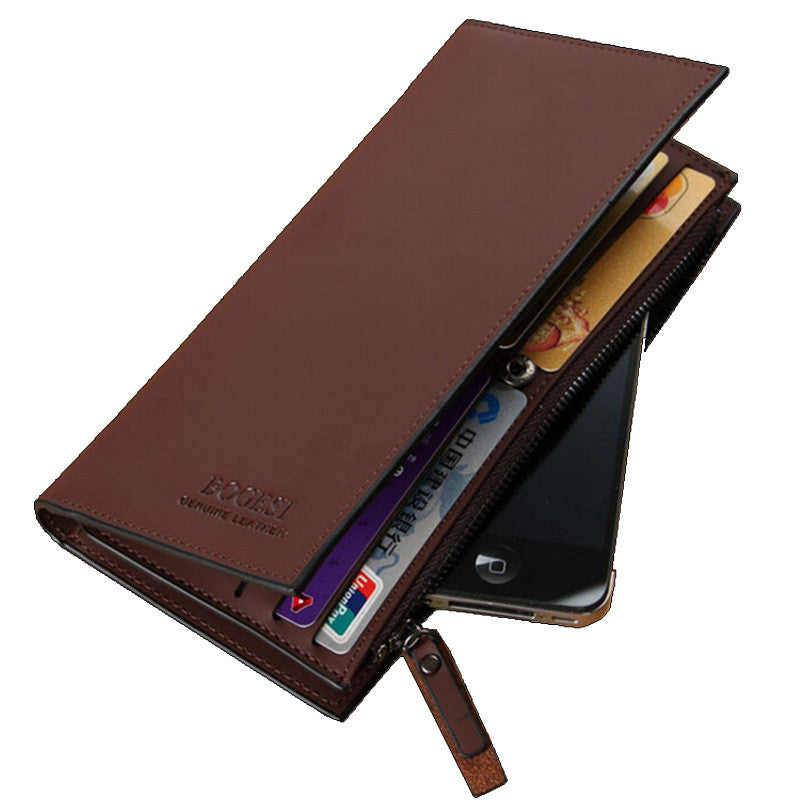 High quality men's Wallets First class PU leather purse long leather wallets