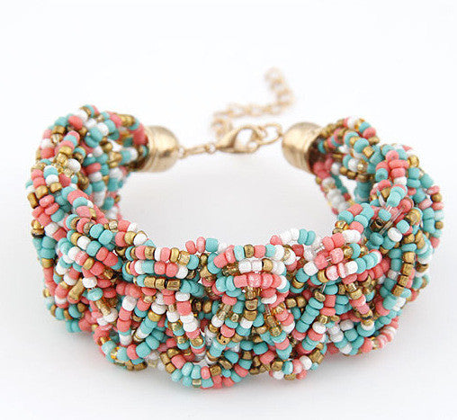 High Quality 6 Colors Woman Bracelets Hot Brand Exaggerated Chain Statement Charm Bracelet Jewelry