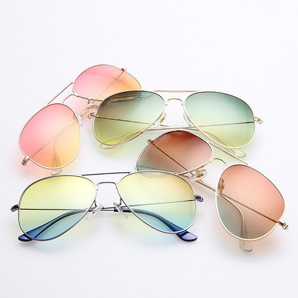High Quality Brand Designer Women Sunglasses 3025 Pilot Sun glasses Sea gradient shades Men Fashion glasses