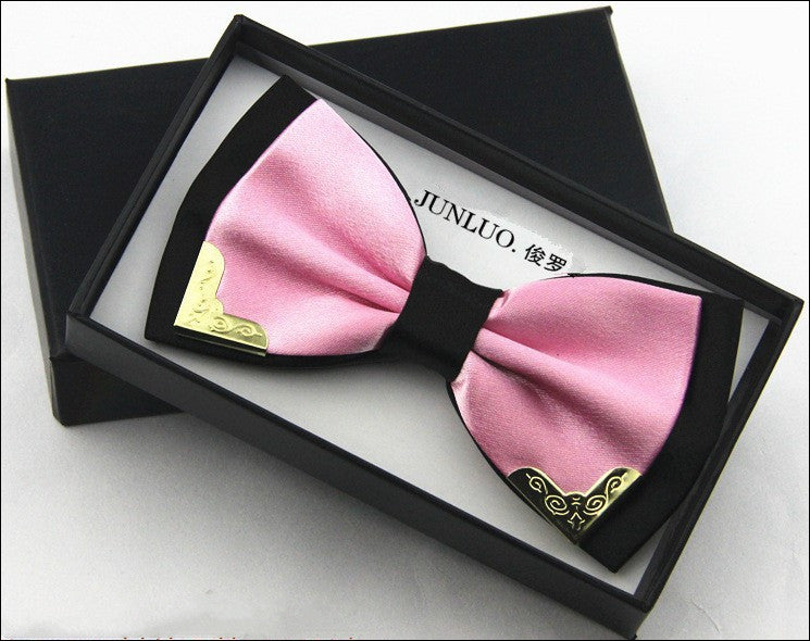 High quality metal bow tie men butterfly cravat bowtie male solid color Wedding commercial bow ties for men