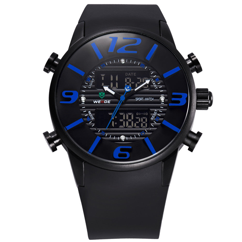 New WEIDE Unique Design Fashion Men Sports Full Steel Watches Men's Quartz Military Army Diver Full Steel Watch