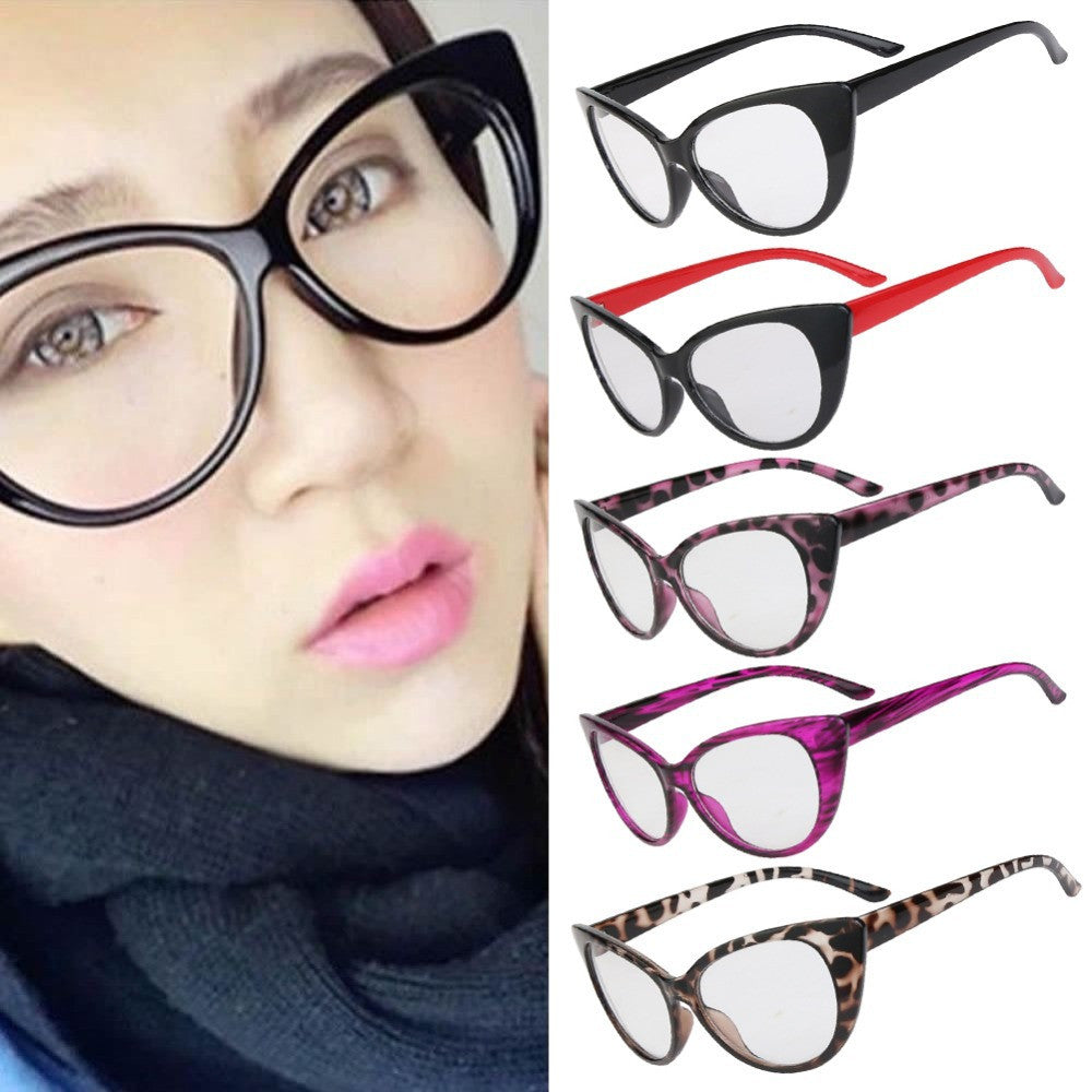 Hot Fashion Retro Sexy Women Eyeglasses Frame Cat Eye Clear Lens lady Eye Glasses