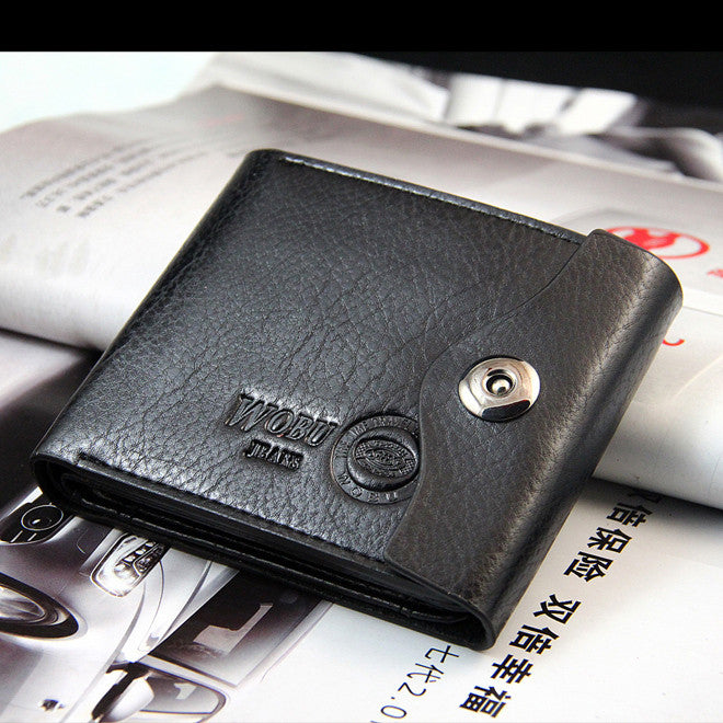 Hot Fsshion Hasp New Promotion Casual Wallets Design Genuine Leather Top Purse Men Wallet Coin Bag