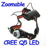 Ultra Bright 500 Lumen CREE Q5 LED Headlamp Headlight Zoomable Head Light Lamp
