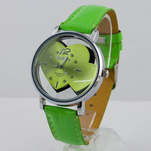 Hot Selling Cute Heart Shaped Round Face Women Girls Quartz Wrist Watches