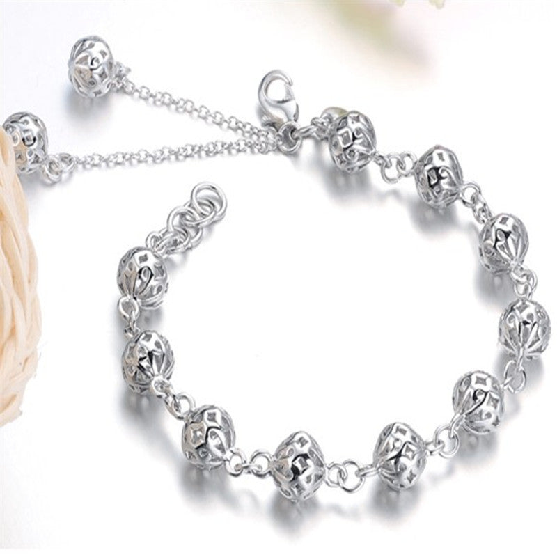 Hot sale Jewelry Pulseras Fashion Silver Bracelets for Women Bracelets & Bangles