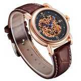 Hot sale Men Watch Luxury Brand Casual Leather Strap Mechanical Watches 1 ATM Water Resistant