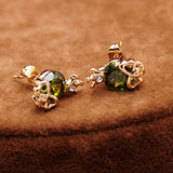 Hot style Fashion Stud Earrings CZ Diamond 18K rose Gold Plated classy desgin high quality Skull Stud Earrings