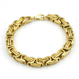 Hot Fashion Stainless Steel Bracelet Men Byzantine Link Chain Bracelets & bangles Pop Love Style