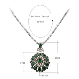 Hot Gorgeous Bohemia Vintage Jewelry Fashion Resin Silver -Plated Women For Pendant Long Necklace Crystal Gifts