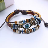 Hot High Quality Evil Eye Jewelry Bracelet 21 Inch Rope Wrap Anchor Bracelet for Women Men Gifts