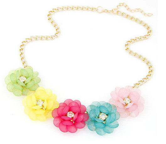 Hot Pendant Necklace Women Jewelry Trends Link Chain Statement Necklaces Colar Flower Pendants For Gift Party