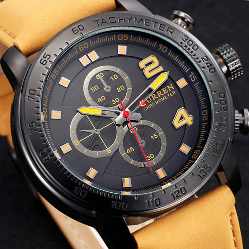 Hot Sale Casual Curren 8190 Fashion Watch Military Sport Men's Watches Luxury brand Quartz Wristwatches