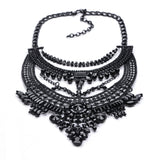 Hot Sale Crystal Maxi Necklace High Quality Vintage Jewelry Multilayer Beads Statement Necklaces & Pendants Love Women Gift