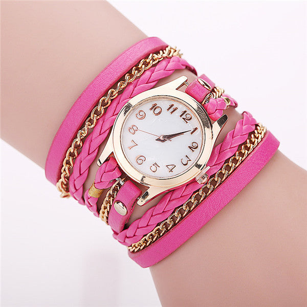 Hot Sale Fashion Casual Wrist Watch Leather Bracelet Women Watches
