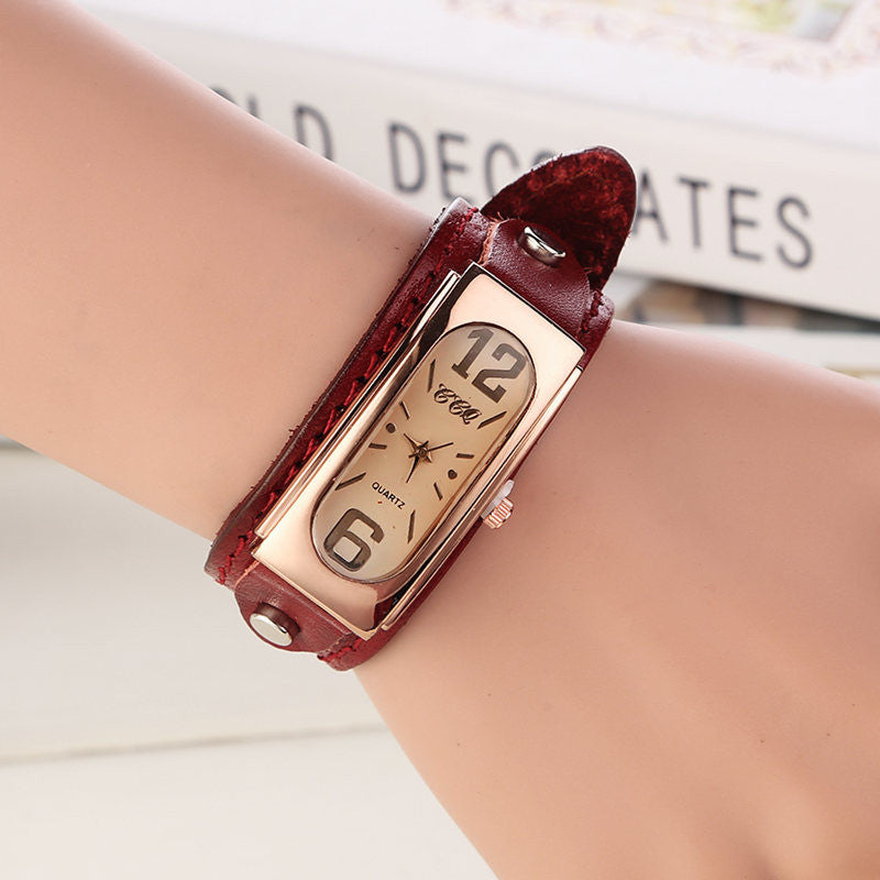 Hot Sale Fashion Vintage Watch Women Wristwatch Leather Strap Quartz Watch Ladies Watch