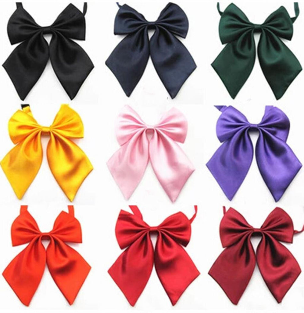 Hot Sale Formal Commercial Bow Tie Butterfly Cravat Silk Bowtie Solid Color Marriage Bow Ties For Women Formal Business