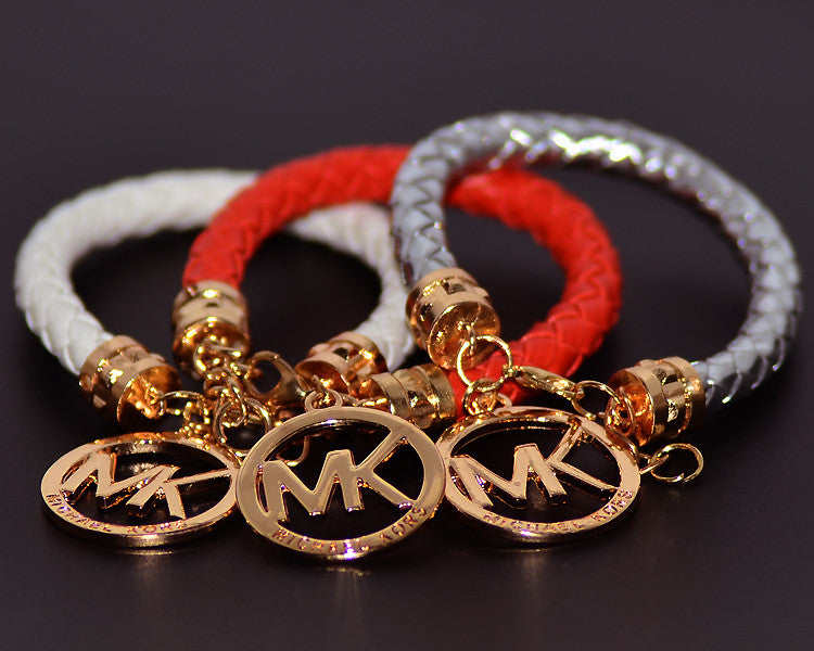 Hot Sale High Quality Leather Rope Alloy Bracelet Bangle For Women Men