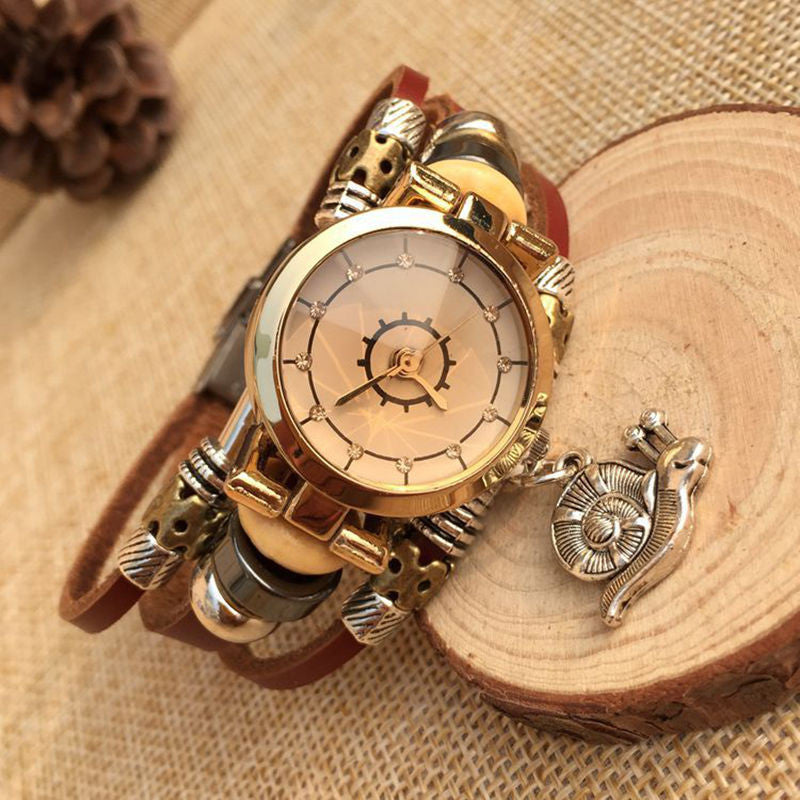 Hot sell Fashion Watch Women Ethnic Style Retro Leather Strap Watches High Quality Quartz Watch Clock