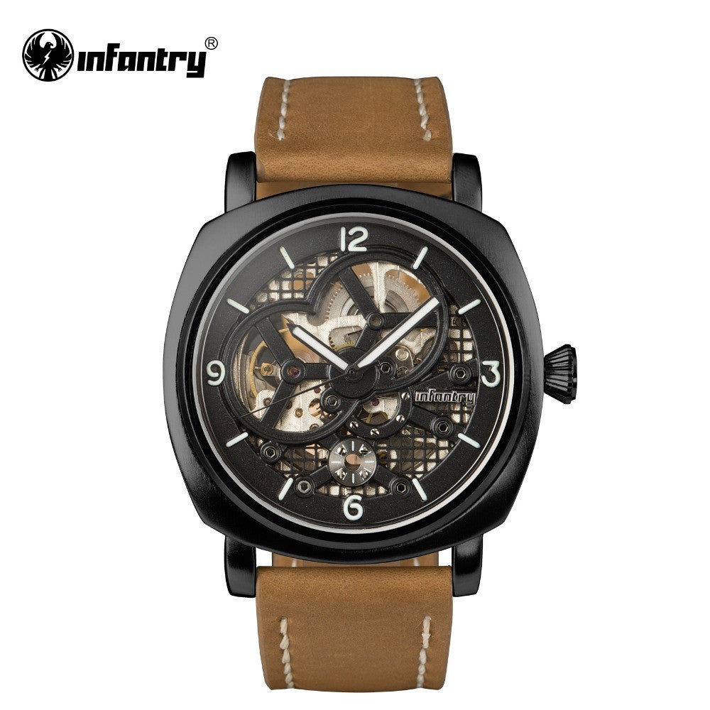 Mens Watches Automatic Mechanical Mens Watch Luminous Luxury Brand Wrist Watch Leather Strap Classic Relogio Hombres