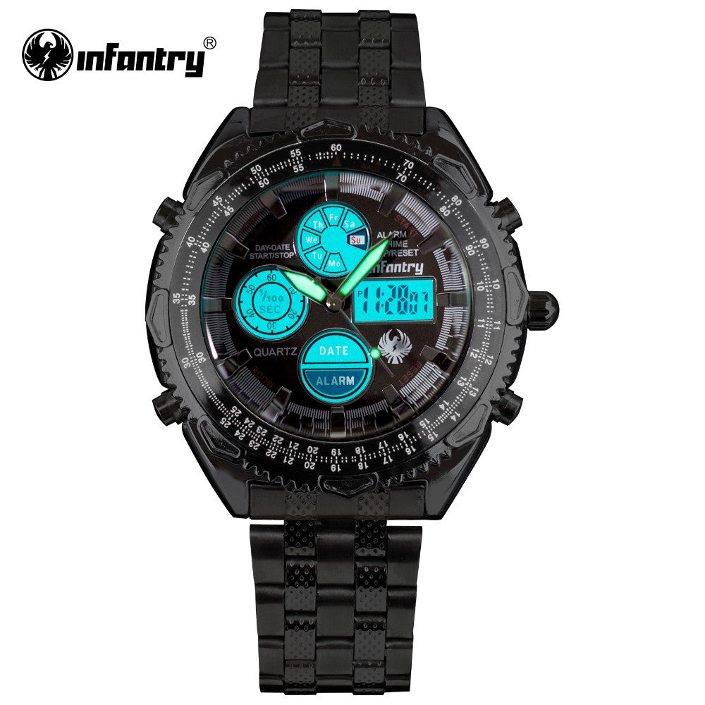 INFANTRY Watch Mens Watches Royal Aviator Pilot Digital Brand Watches for Men Relojes Stainless Steel Hot Sale 30M Waterproof