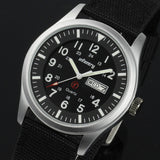INFANTRY Mens Watches Relojes Hombre Luminous Watches New Date Day Police Black G10 Nylon Fabric Strap Quartz Watches