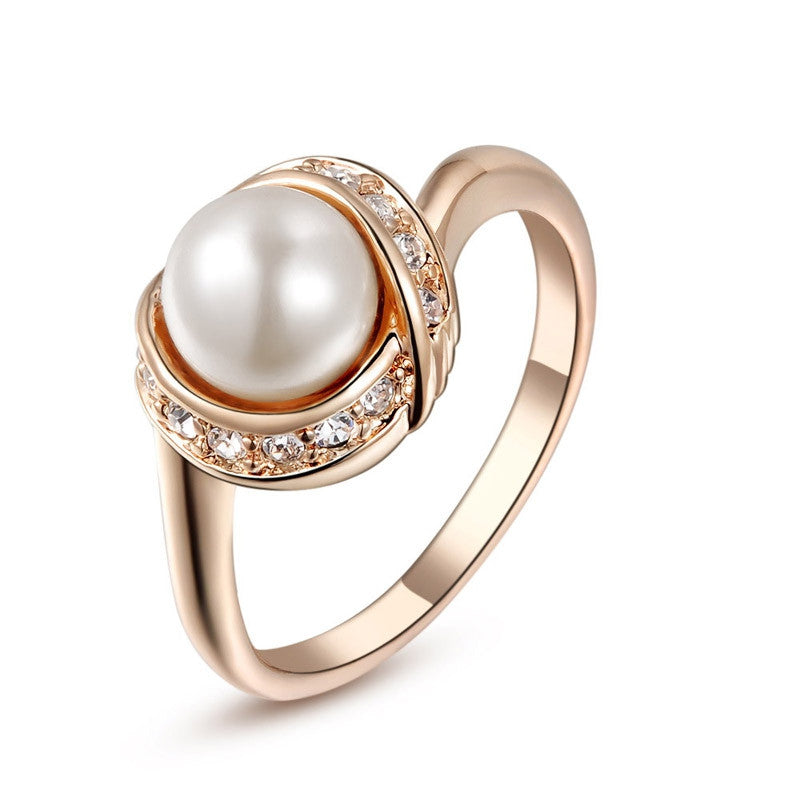 Rose Gold Plated Ring For women With Austrian Crystal Stellux Top Quality
