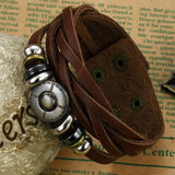 Korean fashion jewelry wholesale new bracelet men 's retro bracelet fine leather bracelet Hot style