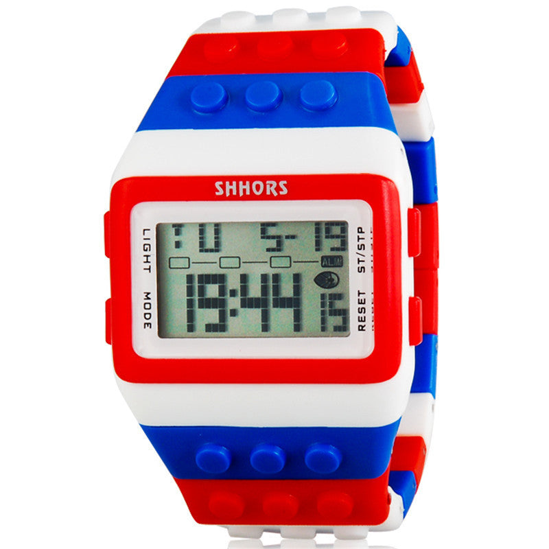 LED Watch Women Kids Watch Fashion Casual Cartoon Watches Colorful Rainbow Girls & Boys Digit Clock Hour Wristwatches